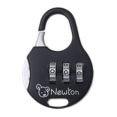 Black 3 Digits Combination Lock Security Gate Padlock