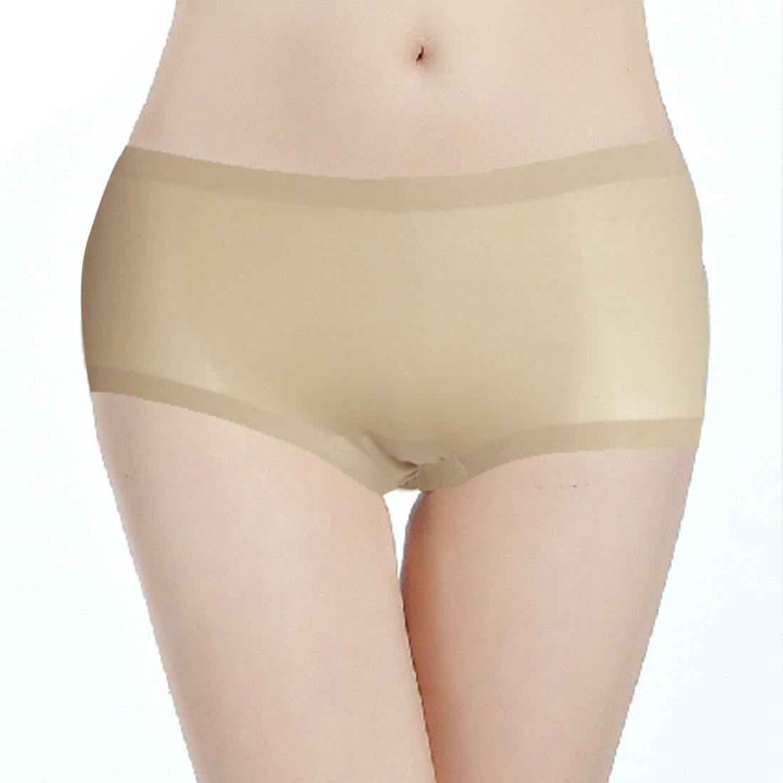 Beige Seamless Underwear Brief Ladies Size S Hipster Panty