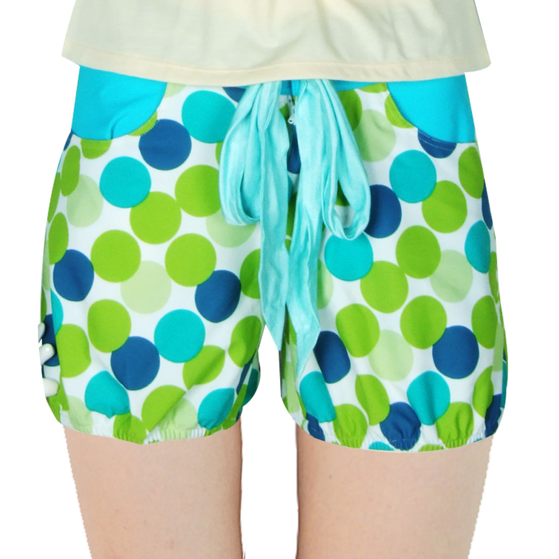Dual Front Pockets Ladies Stretch Beach Shorts