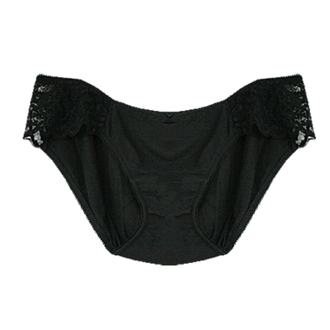 Ladies Black High Cut Panties Size S Underwear Briefs