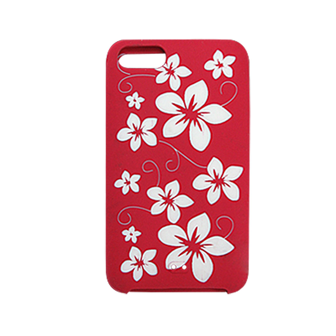 Silicone Skin Red White Case Cover for iPod Touch 2