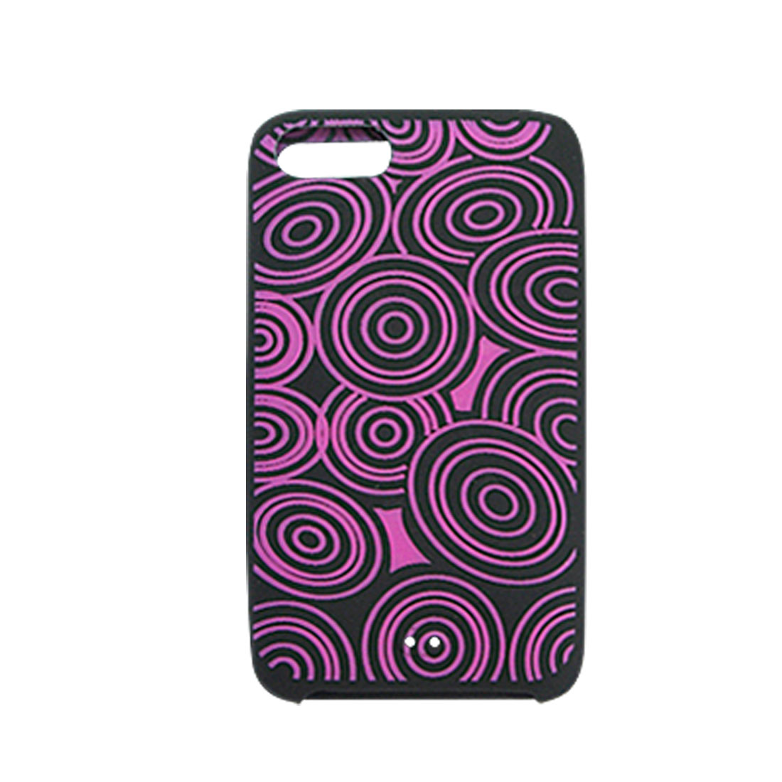 Purple Wheel Black Silicone Skin Case for iPod Touch 2