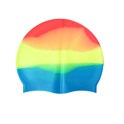 Adults Silicone Swimming Hat Colorful Stretch Swim Cap
