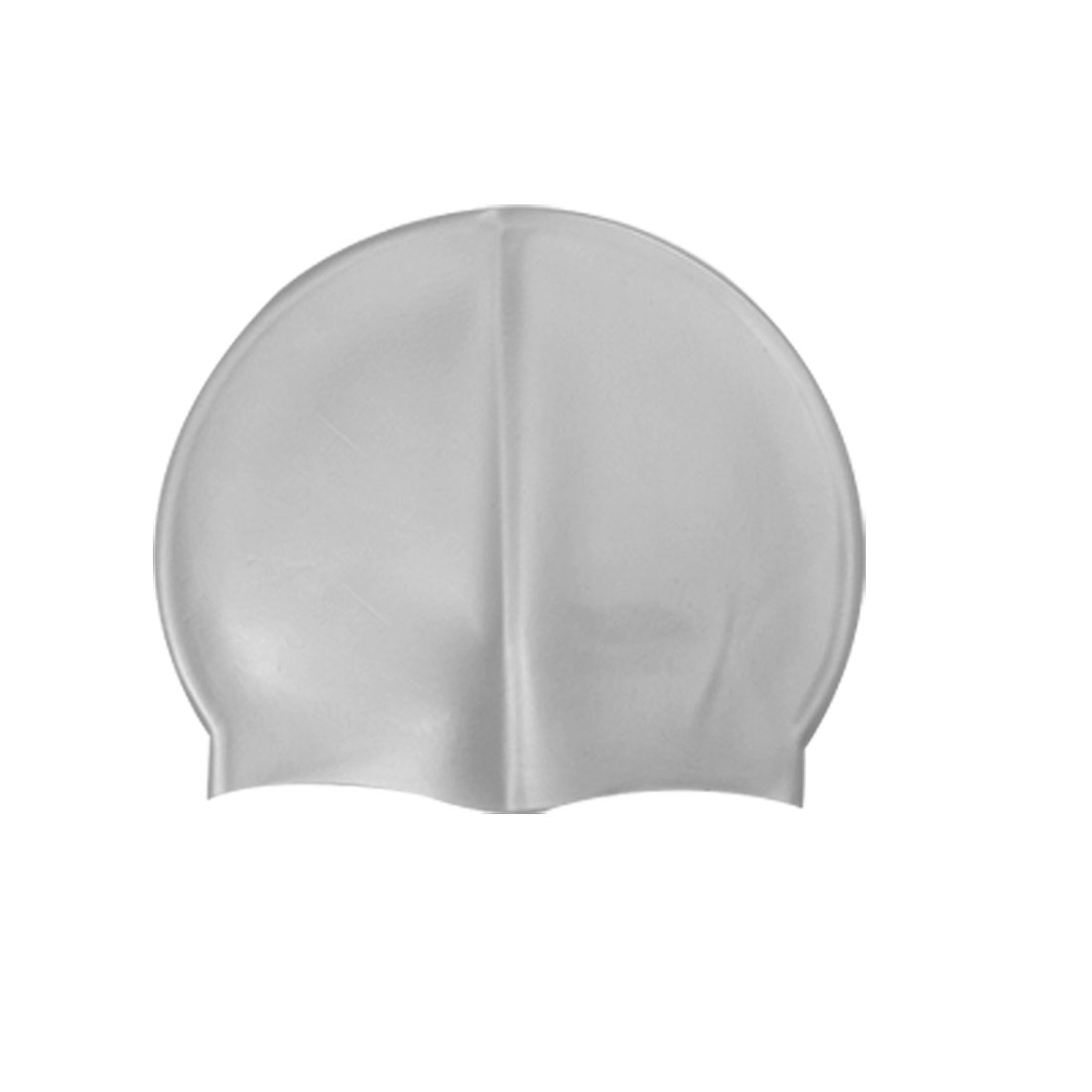 Adults Gray Silicone Swimming Hat Flexible Swim Cap