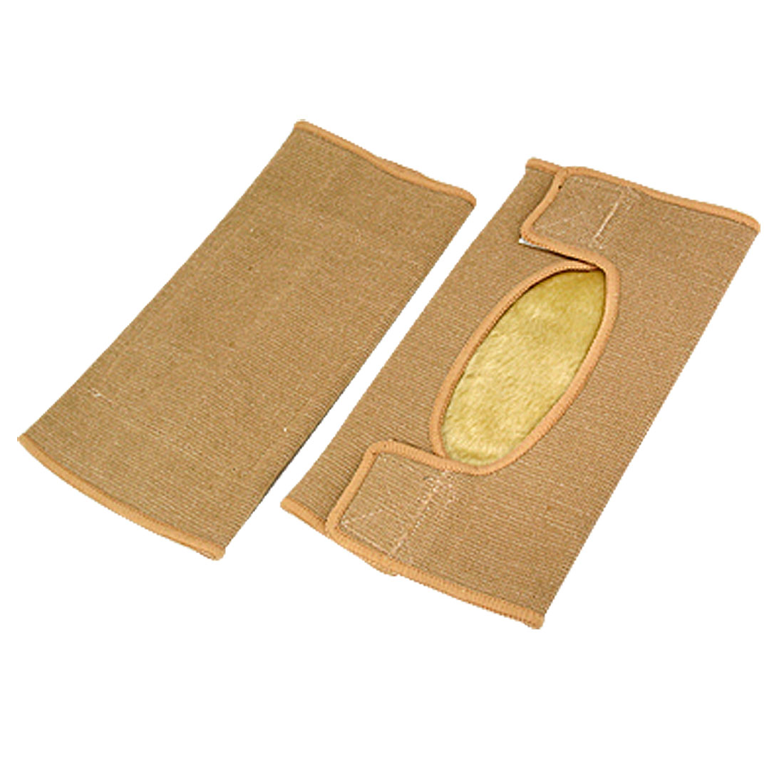 Light Brown Warm Sports Knee Supports Elastic Wraps