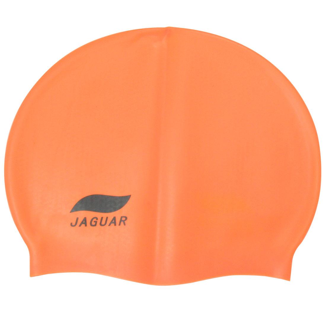 Orange Flexible Swimmer Thin Skin Silicone Swimming Cap