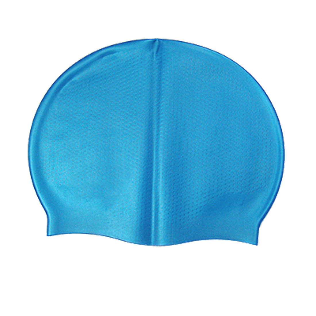 Flexible Blue Sporty Silicone Water Resist Swimming Cap