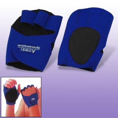Blue Nonslip Neoprene Palm Hand Sports Glove Protector