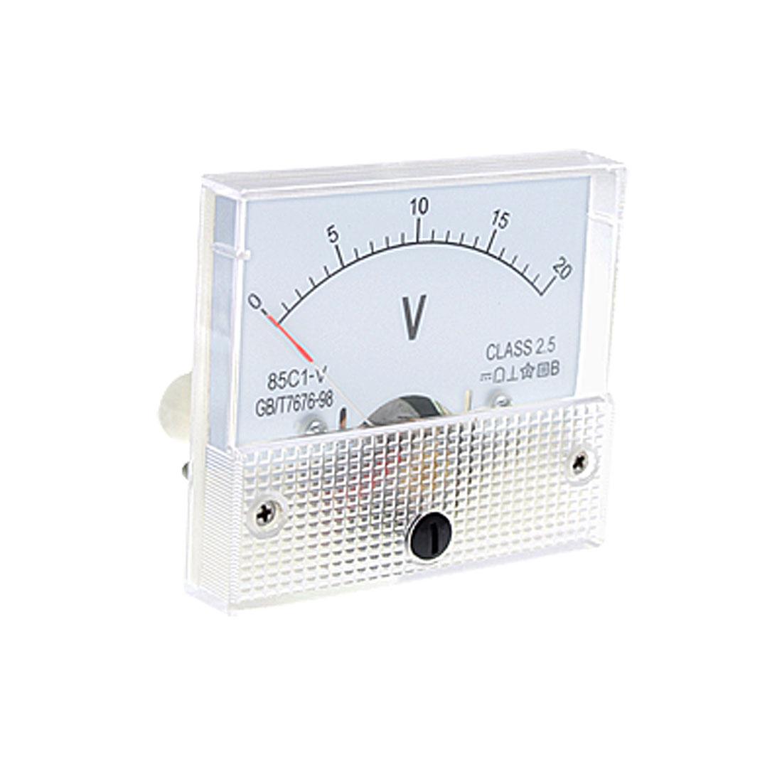 DC 0~20V 85C1-V Class 2.5 Voltmeter Analog Volt Panel Meter