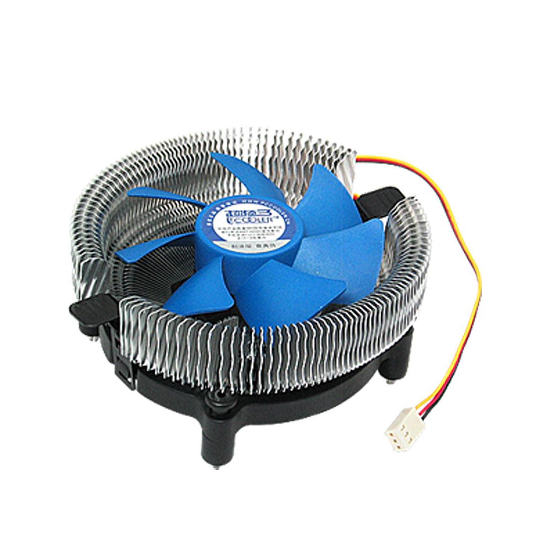 DC 12V 3 Pole CPU Heaksink Cooler for Intel LGA 1155/1156/AMD Socket