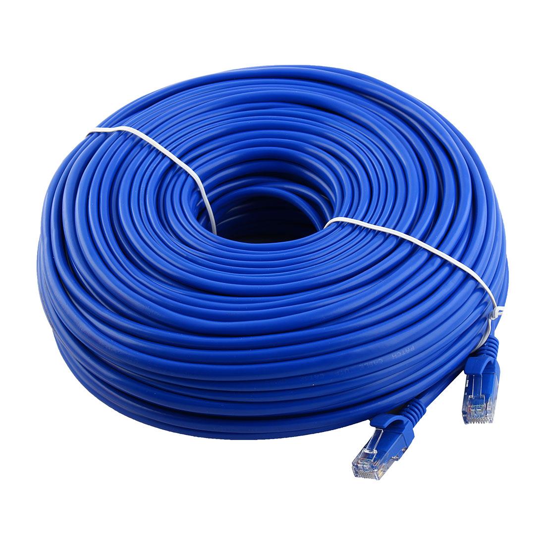 164FT 164 FT RJ45 CAT5 CAT 5E CAT5E Ethernet LAN Network Cable Blue
