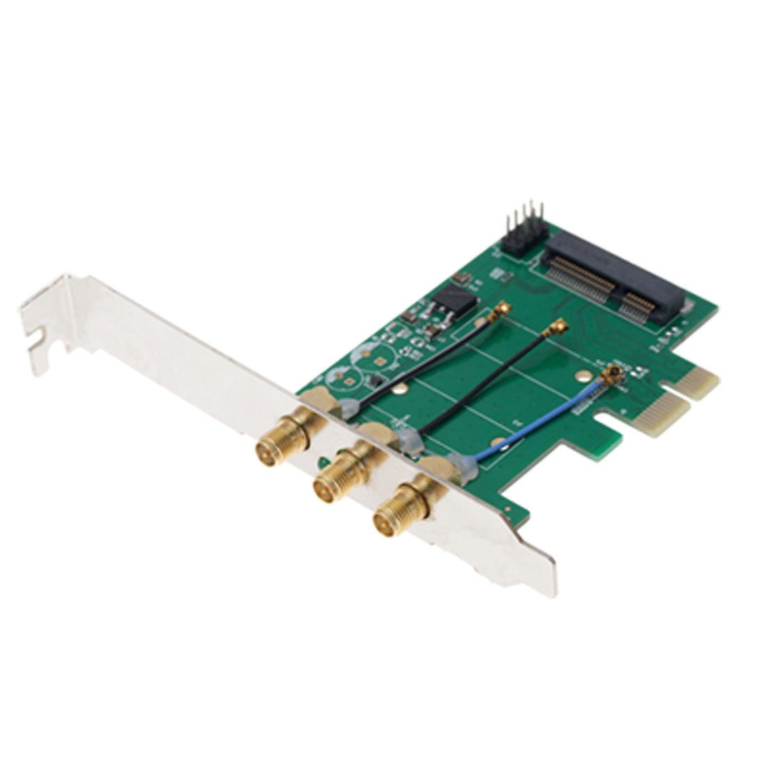 Mini PCI-E to PCI-E adapter Card Networking for PC