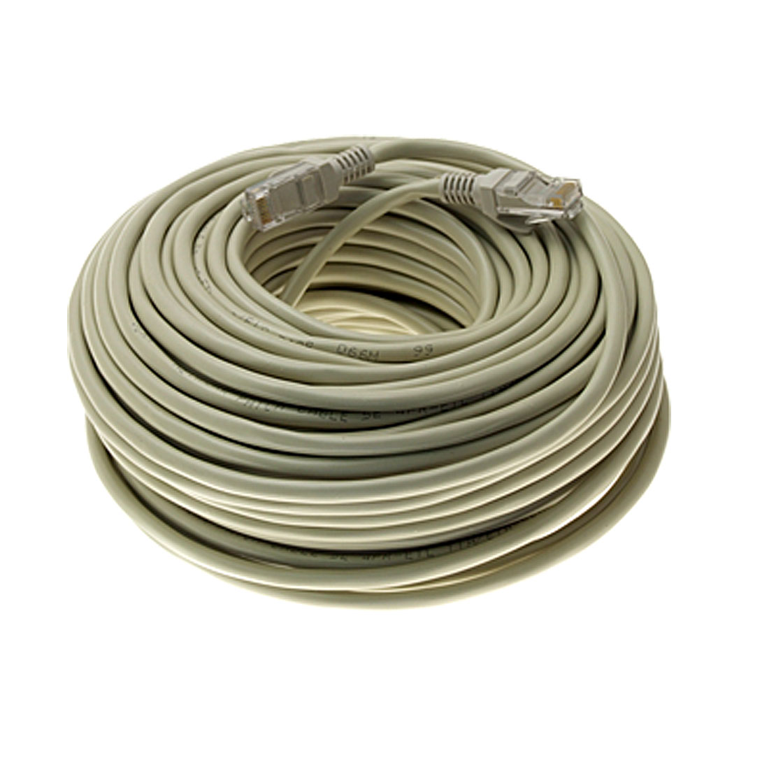 98.4 ft Feet 30M RJ45 CAT5E LAN Network Cable Gray for Ethernet Router Switch