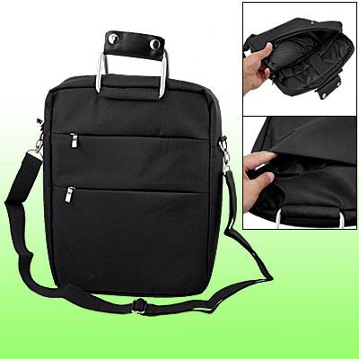 12 Inch Laptop Bag Travel Black Handbag with Shoulder Strap