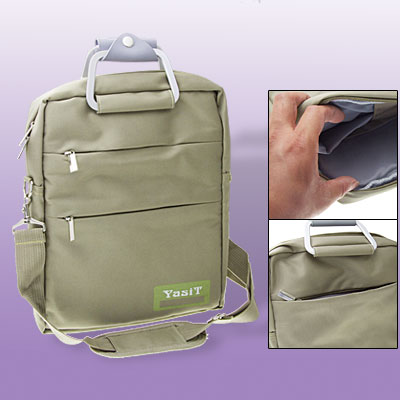 Travel Portable Khaki Handbag 12 Inch Laptop Notebook Shoulder Bag