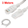 9.8 ft Feet RJ45 CAT5E LAN Network Cable Gray for Ethernet Router Switch