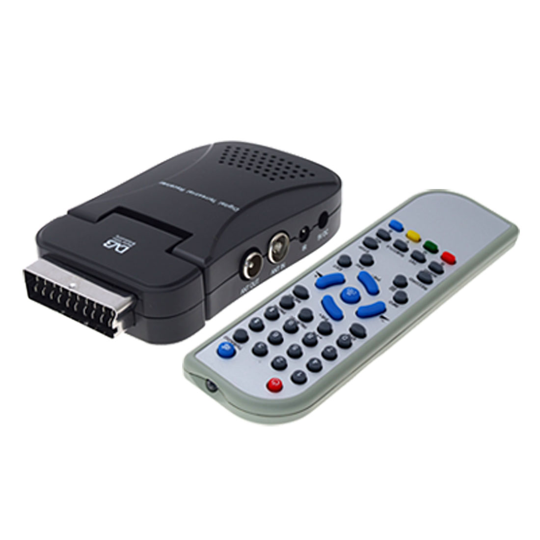 EU Plug AC 100-240V DVB-T Receiver Scart Interface PVR Remote Controller