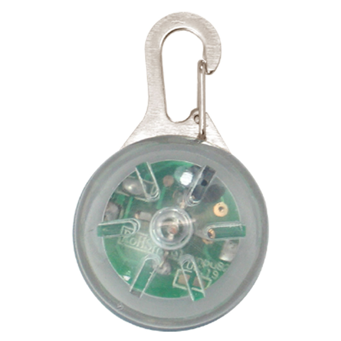 Clear White Round Lobster Clasp Key Chain LED Key Ring