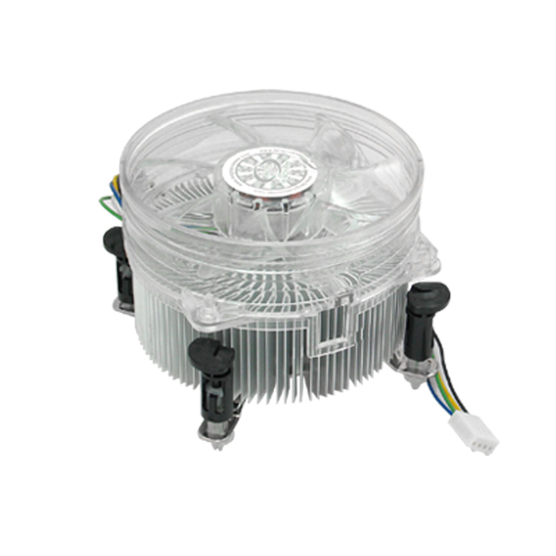 Clear White Cooling Fan CPU Cooler for Intel Core2 LGA775