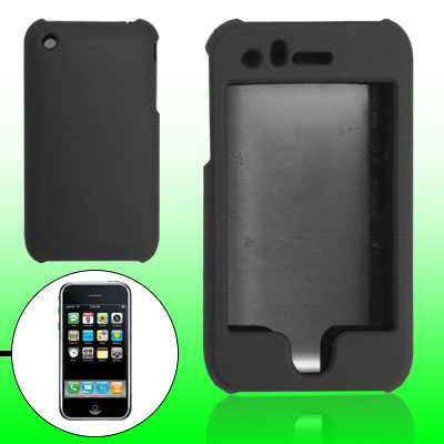 Black Rubberized Hard Plastic Case for Apple iPhone 3G