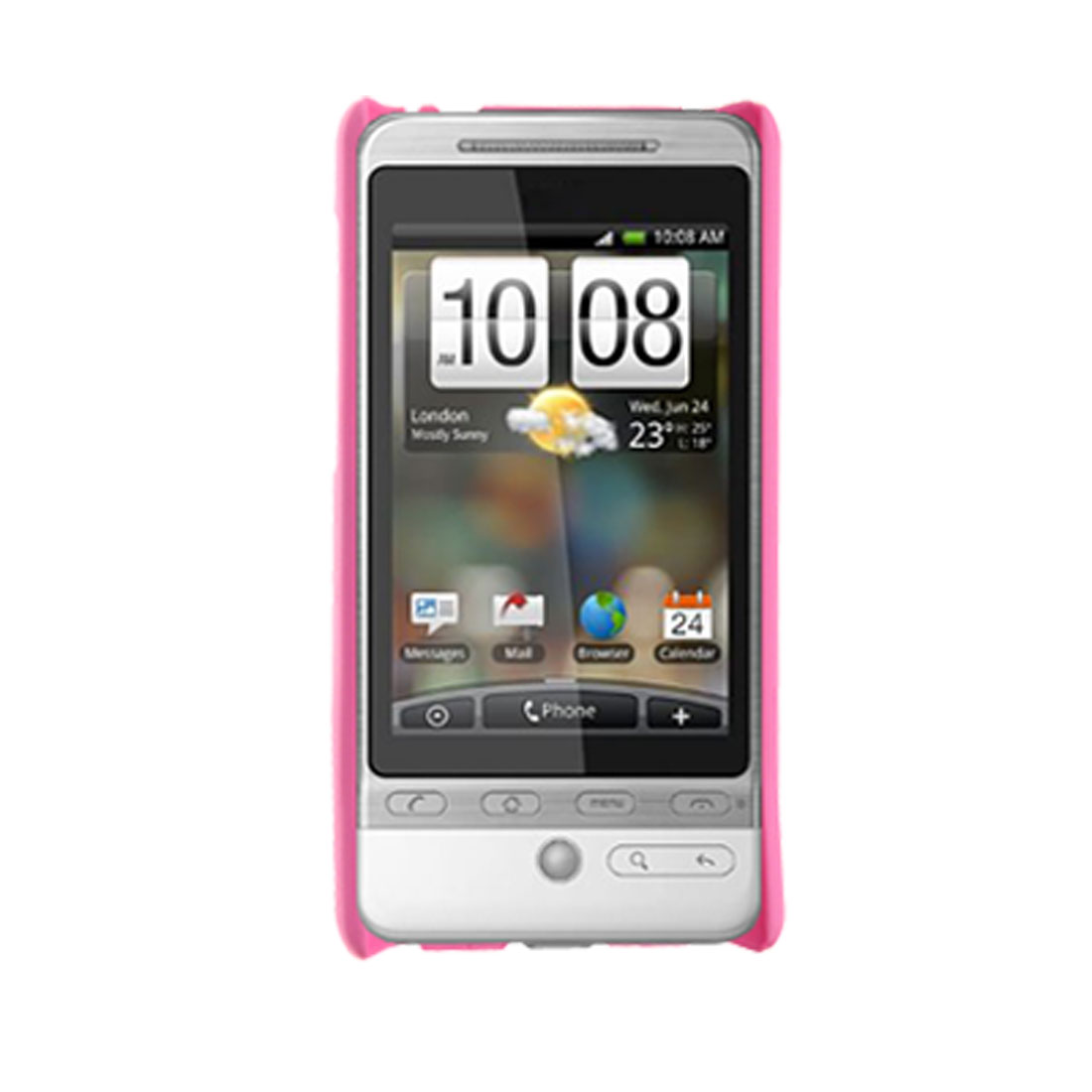 Plastic Cover Pink Hard Back Case For HTC G3 Hero