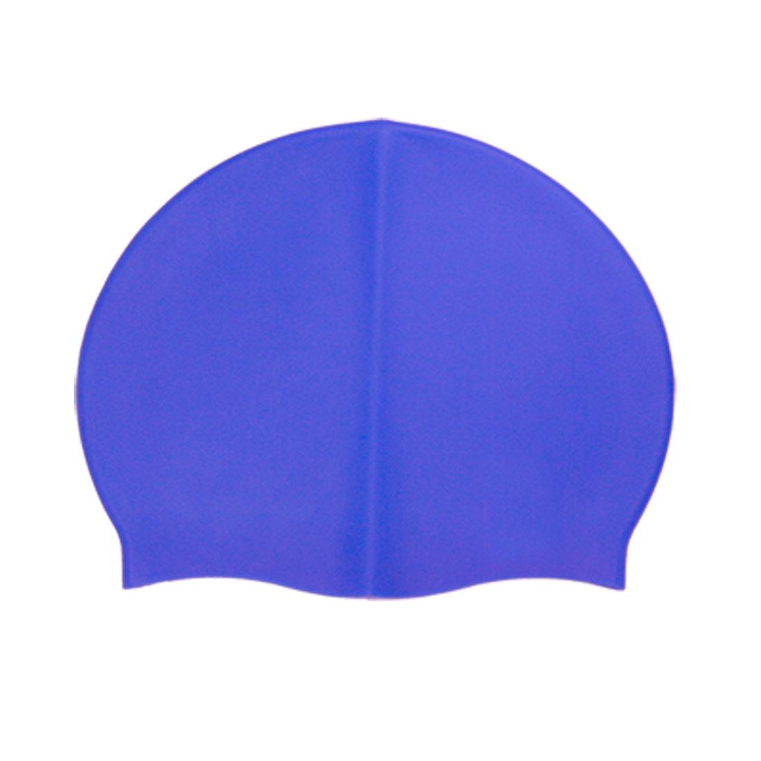 Blue Flexible Silicone Swimming Cap Swim Hat for Swimmer