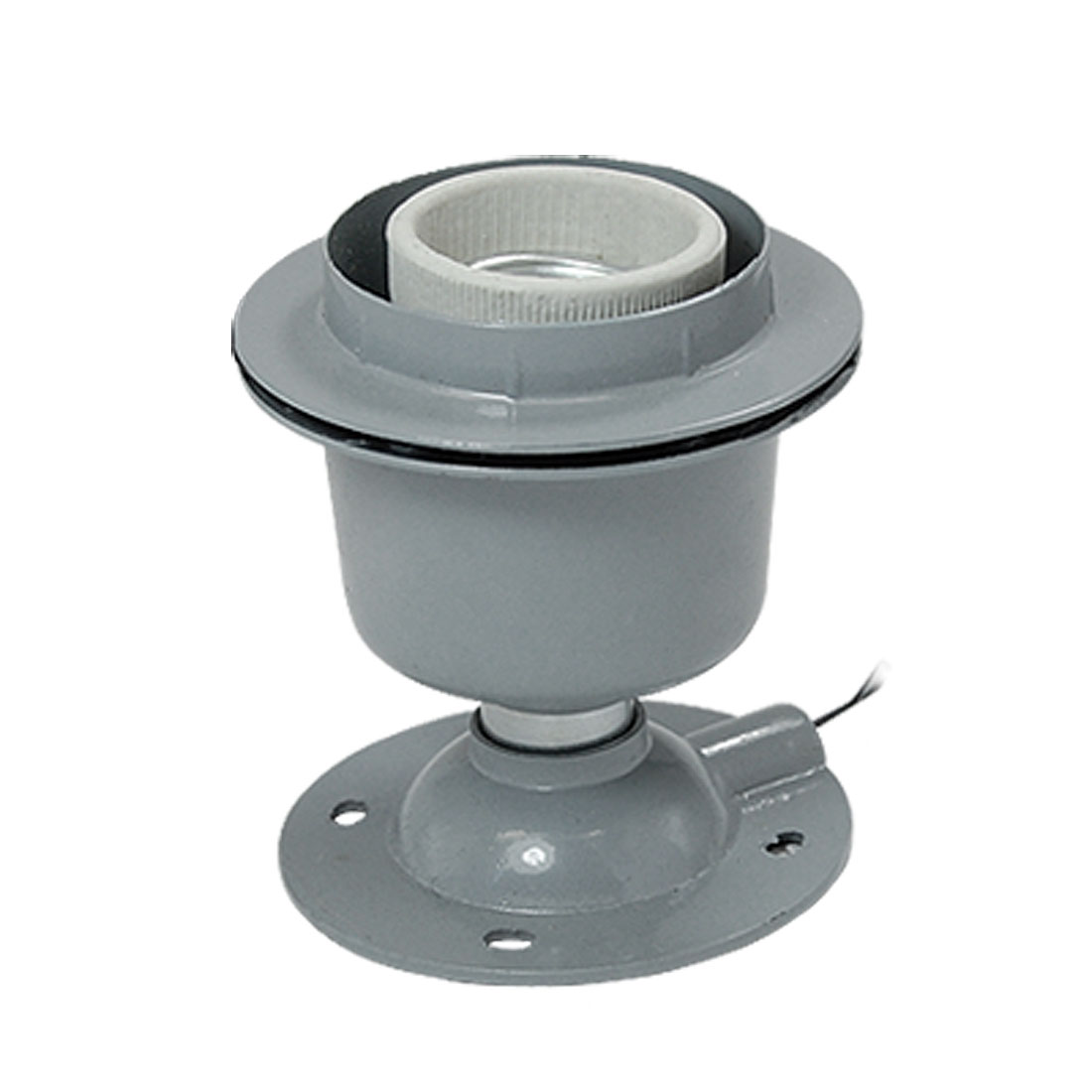 E27 Round Metal Light Bulb Lamp Socket Holder
