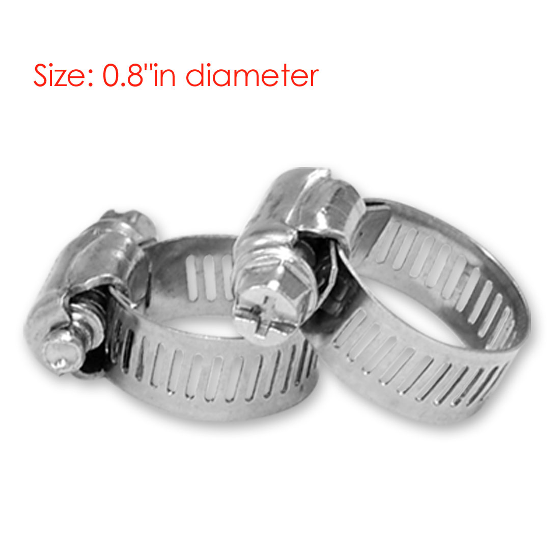 2 x 0.75 inch Gas Water Pipe Connect Hose Alloy Clamps