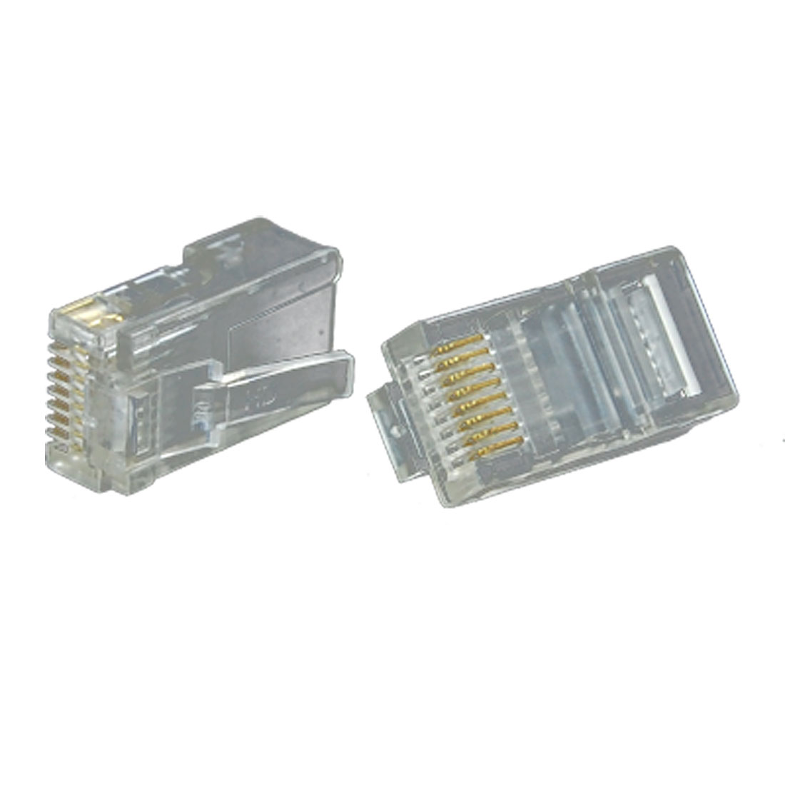 Clear Network Modular Connector Plug 8P8C Cat5 RJ 45 4pcs