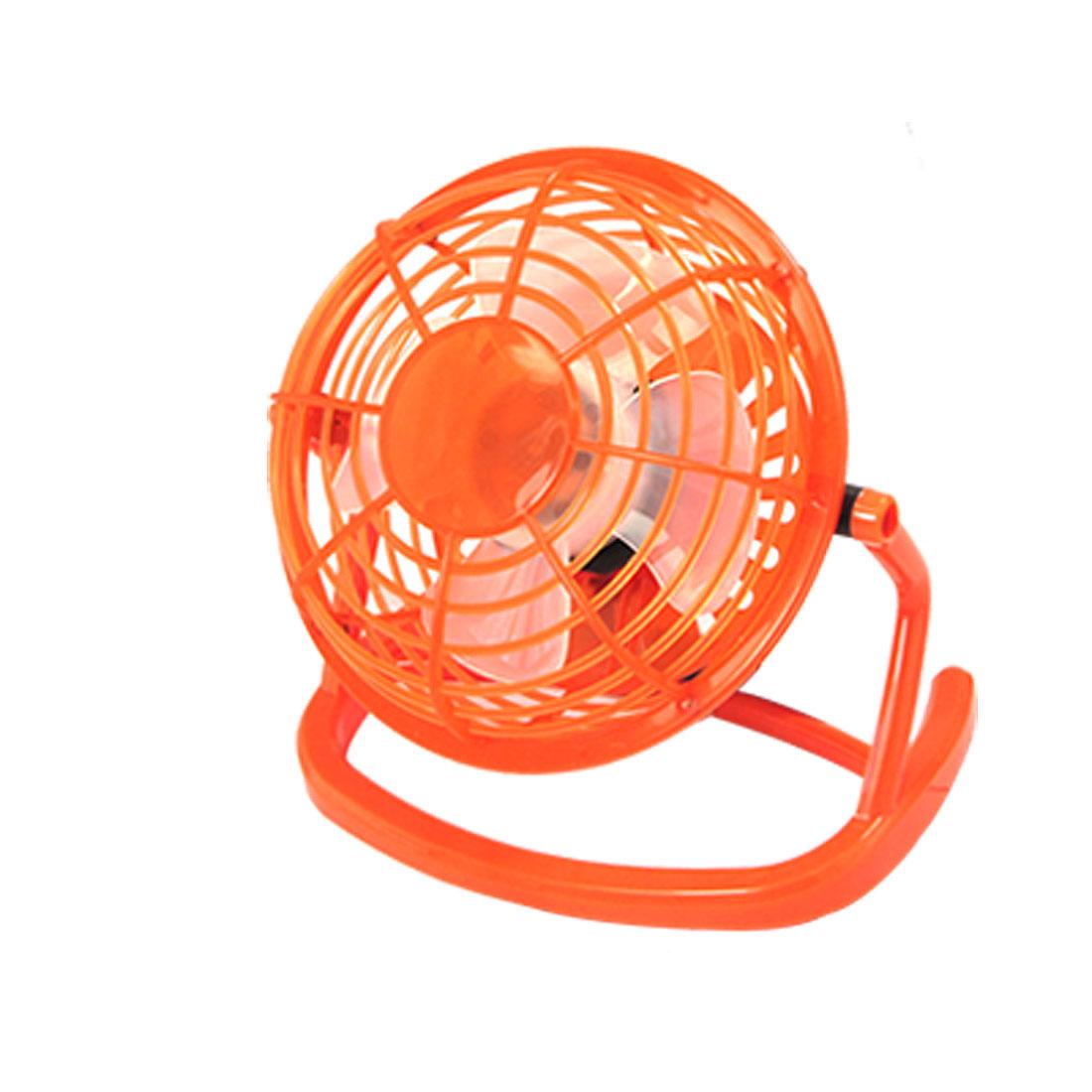 Portable Orange Free Angle USB Plastic Laptop Desktop Cooler Cooling Fan