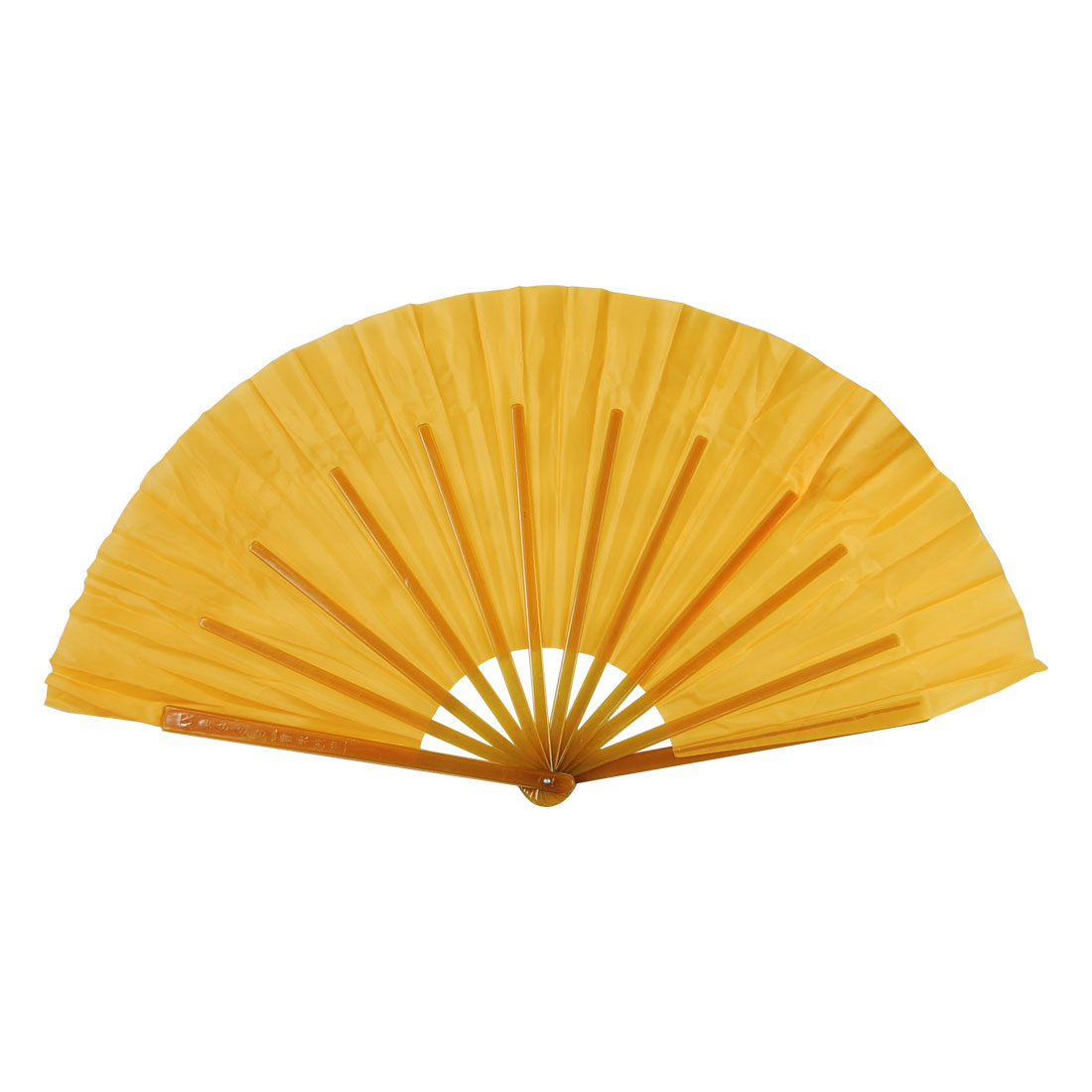 "16.3"" Long Ladies Entertaiment Yellow Polyester Dance Fan"