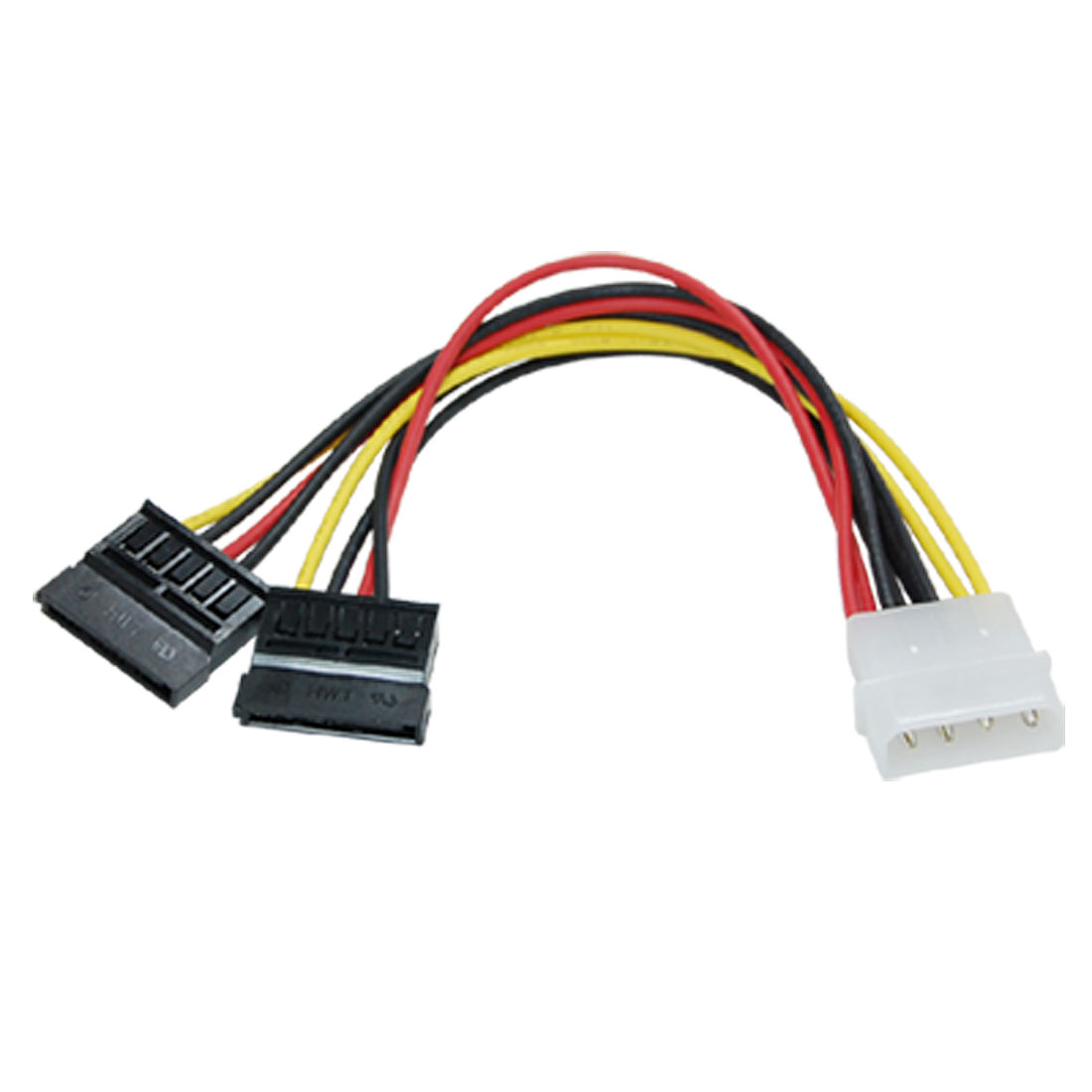 4P IDE to 2 SATA Serial ATA Splitter Power Cable