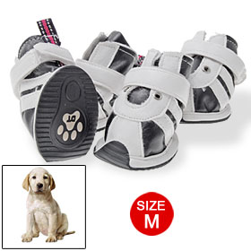 Soft Rubber Outsole Black White Dog Shoes Pet Puppy Boots