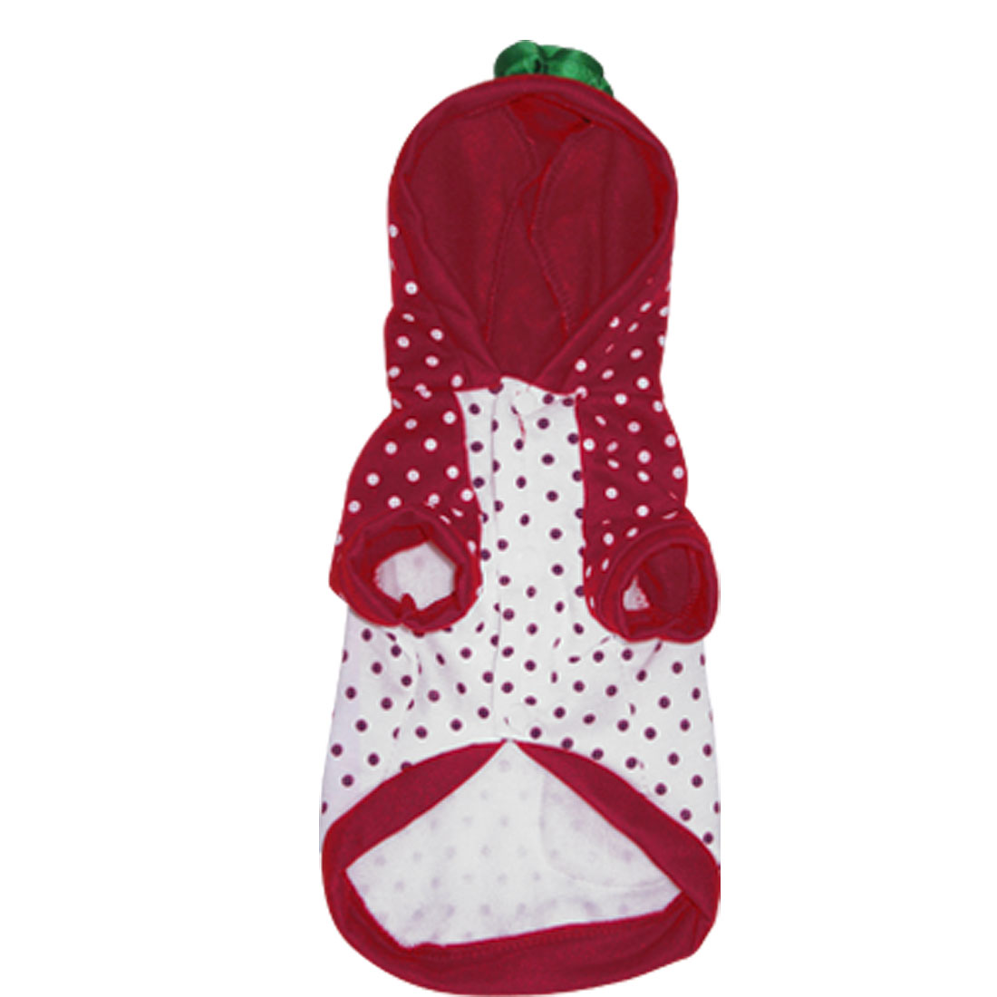 Lovely Strawberry Style Winter Pet Dog Hooded Jackte Coat Jumpsuit Size XS