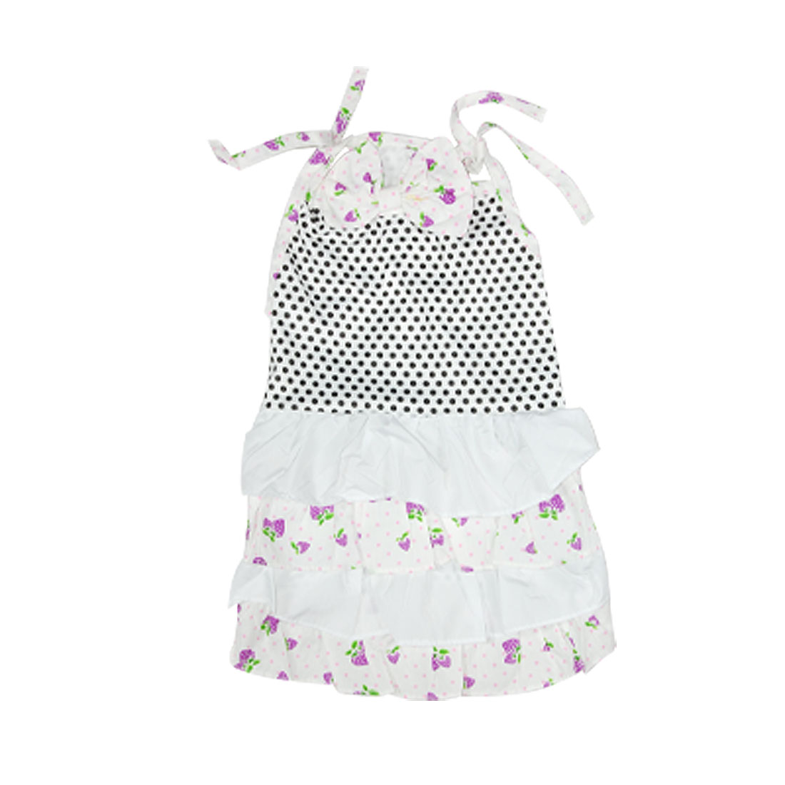 Size L White Summer Pet Yorkie Dog Puppy Cat Apparel Dress Skirts Vest Clothes