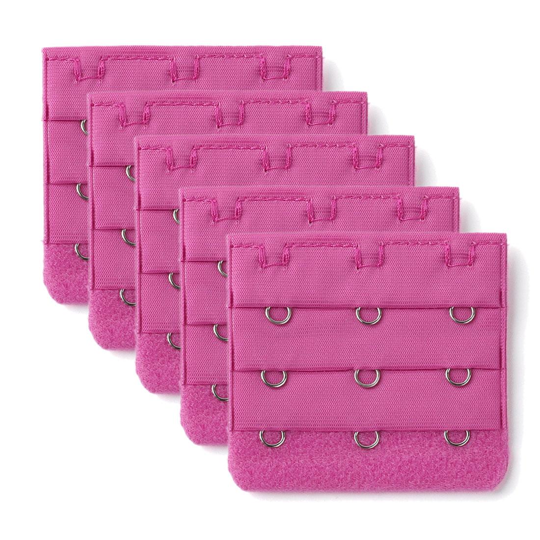 5 Pcs Amaranth Pink Bra Extender Extension Strap 3x3 Hooks