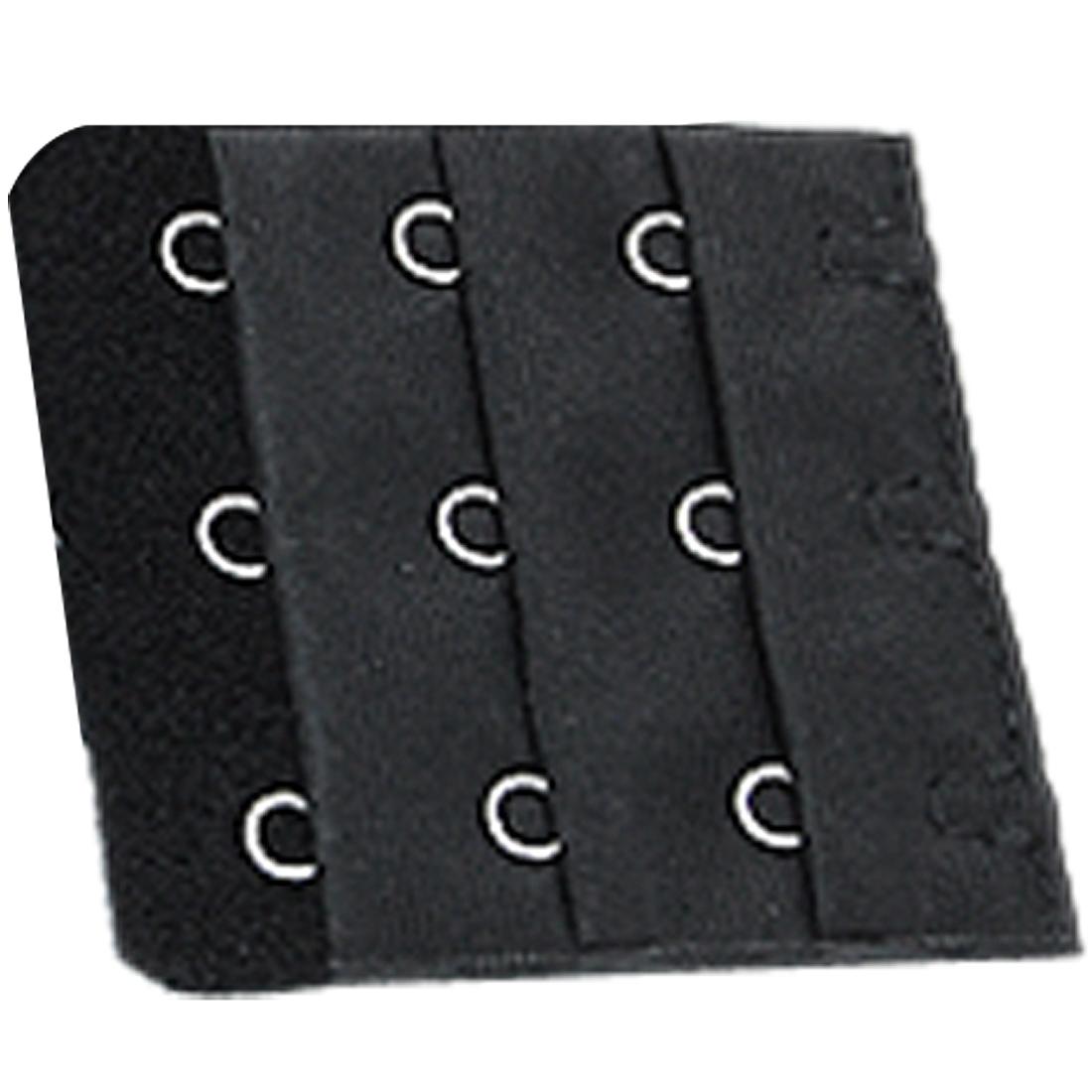 5 Pcs Black Bra Extenders 3 Hooks Strap Lingerie Set