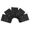 5 Pcs Bra Black 2x3 Hooks Extenders Extender Strap