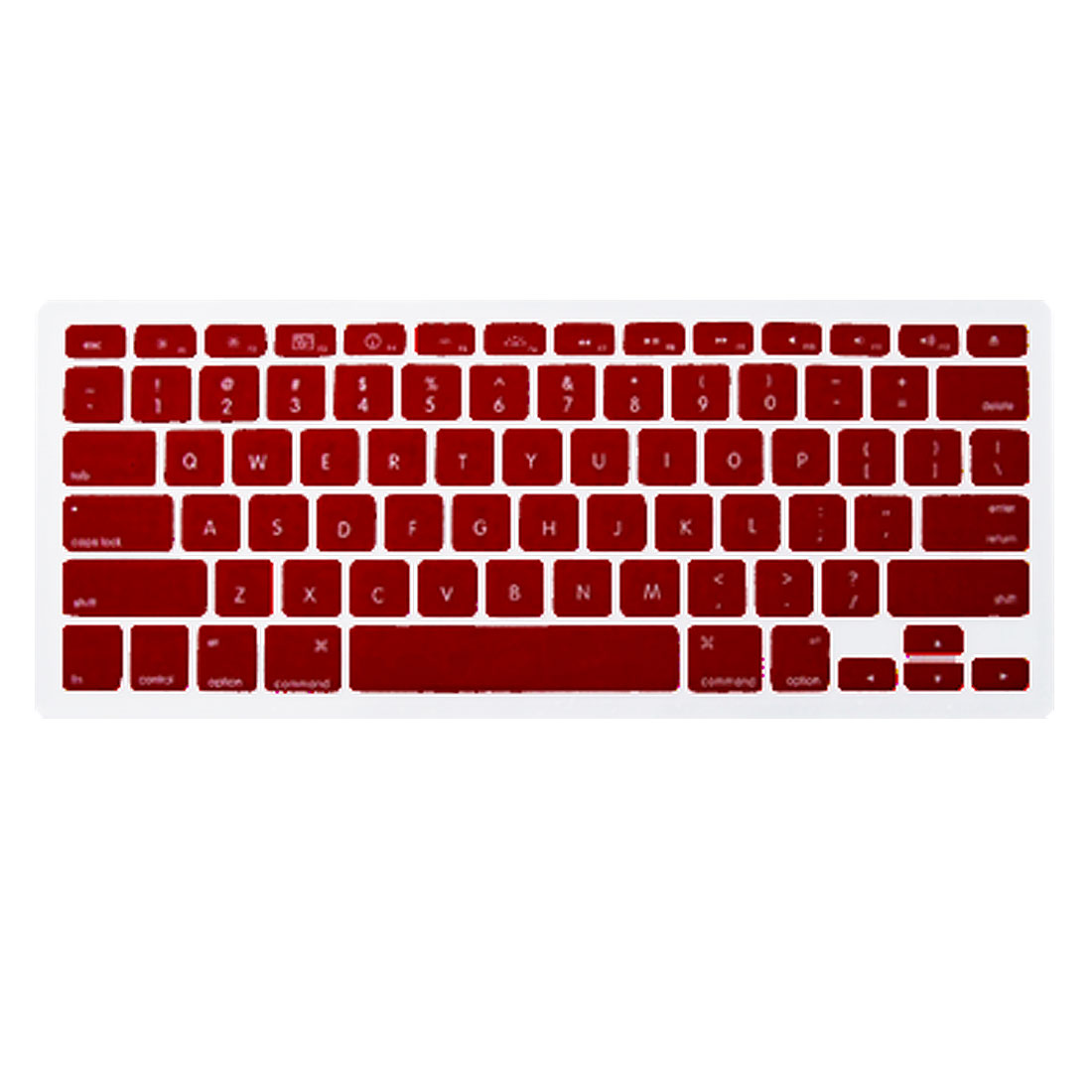 "Red Silicone Keyboard Skin Cover for MacBook 13.3"" Hejmk"