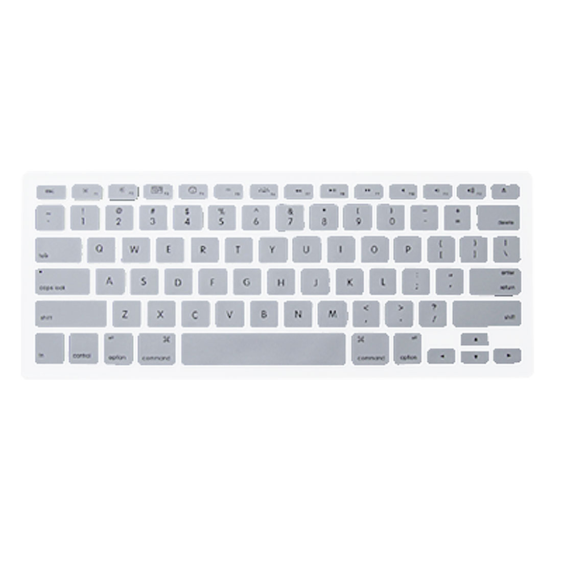 Silver Tone Keyboard Siclicone Skin Cover for MacBook 13.3""