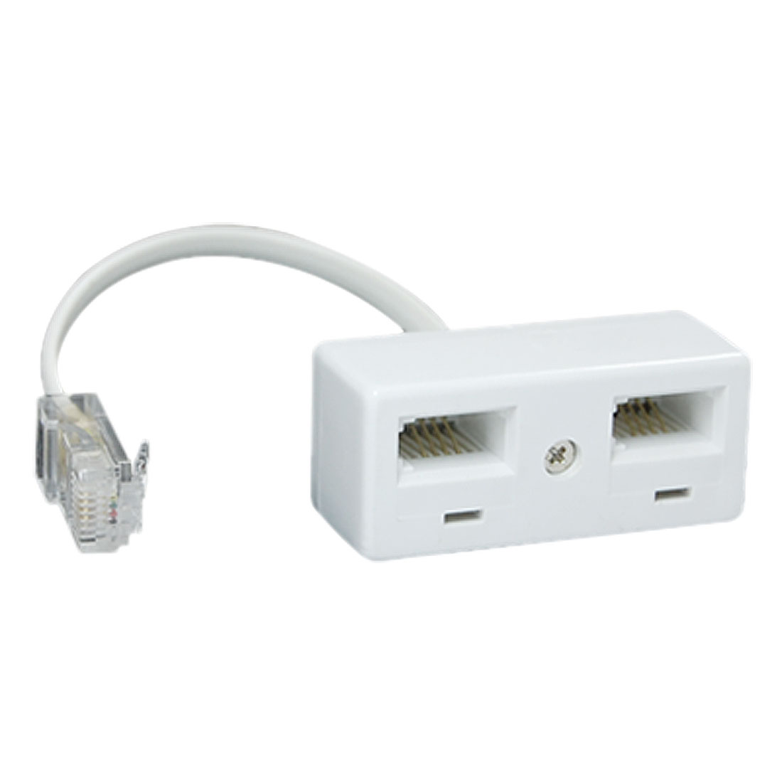 RJ45 Plug to Dual BT Socket Secondary Telephone Adapter