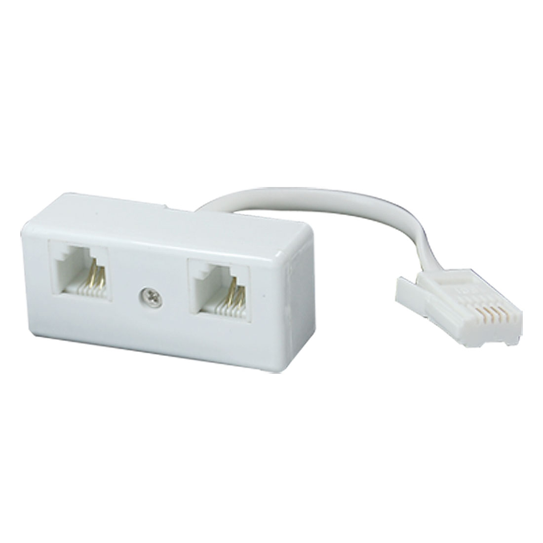 Telephone Male UK BT to Dual RJ11 Secondary Adapter