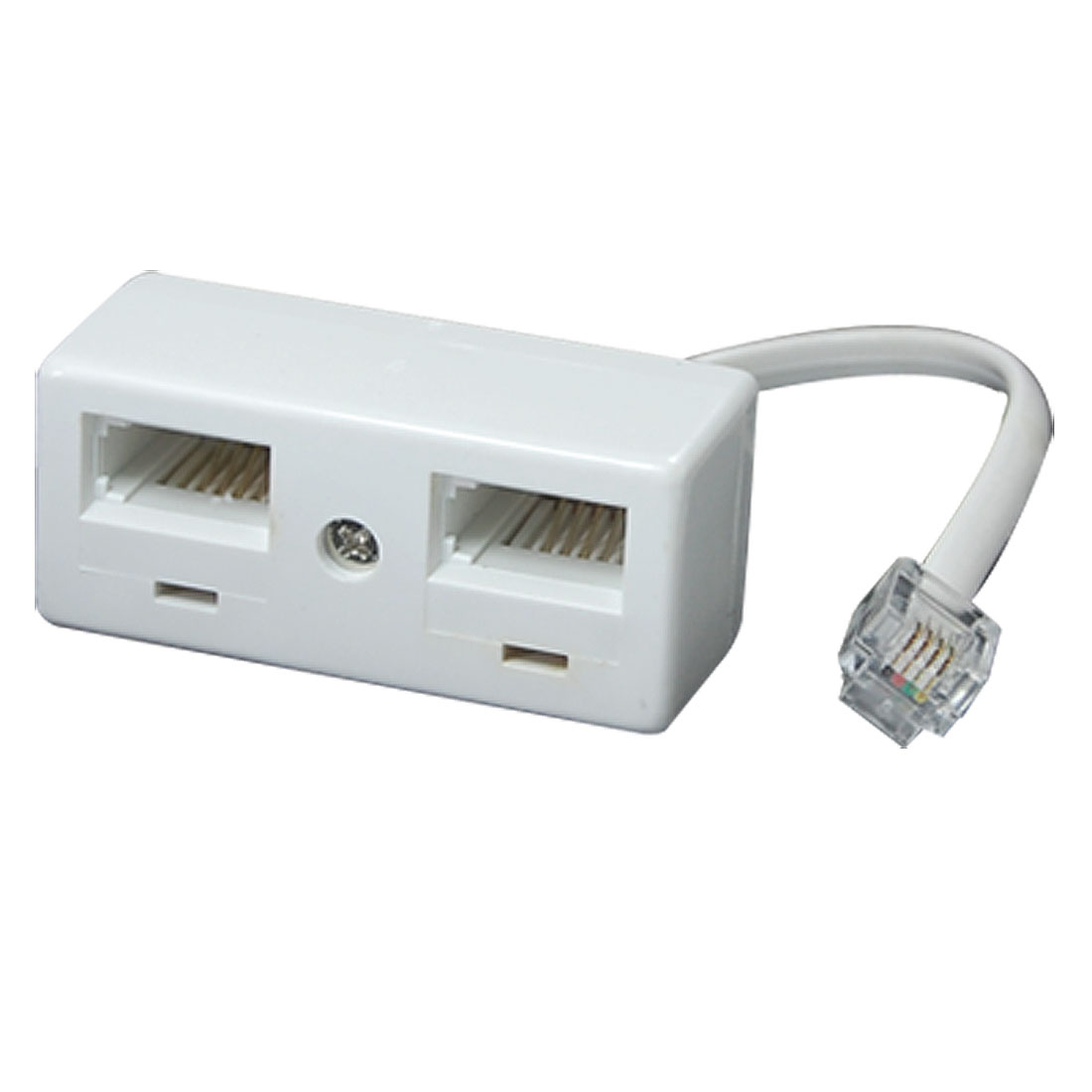 Male RJ11 to Dual UK BT Socket Telephone Adapter