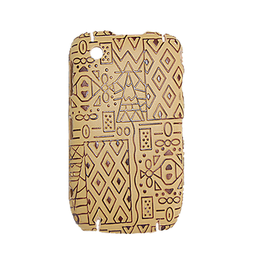 Texture Printed Plastic Protector Case for Blackberry 8520