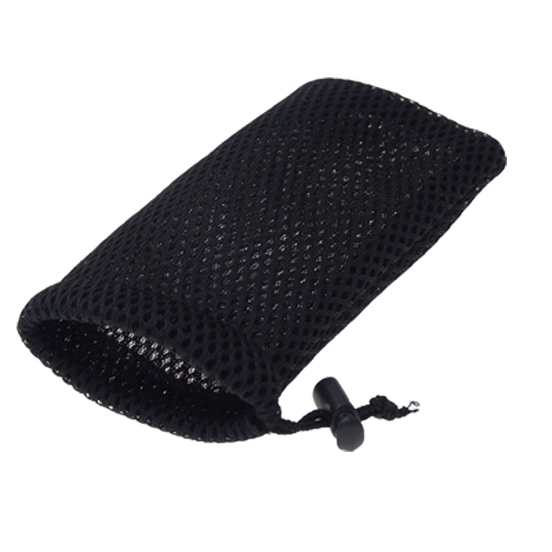 Black Mesh Cell Mobile Phone Pouch Mp3 Mp4 Nylon Bag