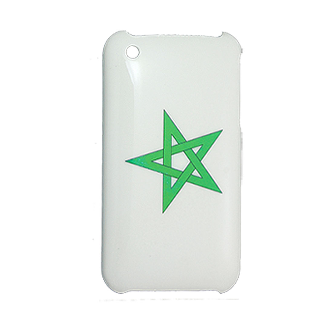 Hard Plasitc White and Green for iPhone 3G Back Case