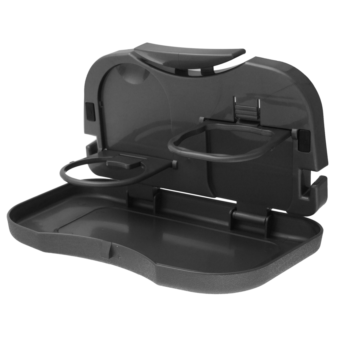 Gray Plastic Auto Car Inner Portable Food Snack Tray