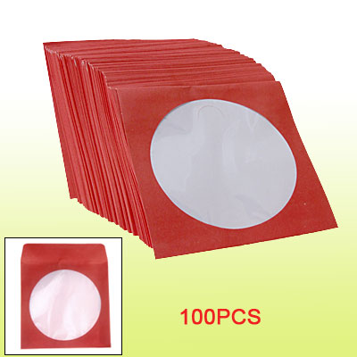 Salmon Pink Square 100 pcs CD DVD Paper Bag Holder