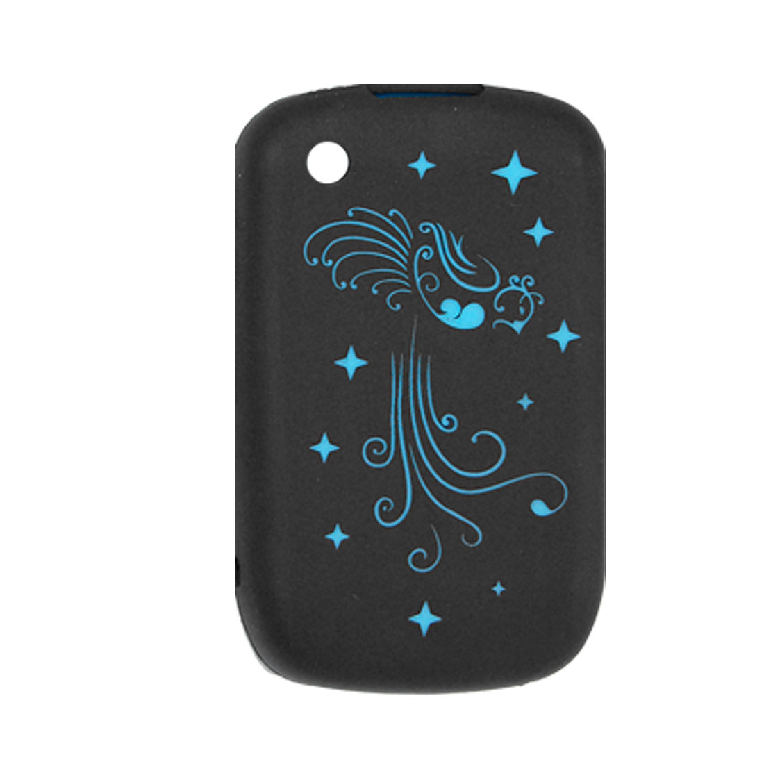 Black Case Blue Star Screen Protective Cover for Blackberry 8520