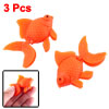Aqua Landscape 3 PCS Aquarium Fish Tank Orange Plastic Goldfish Ornament